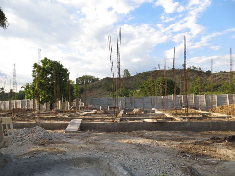 1st house foundation nearly finished
