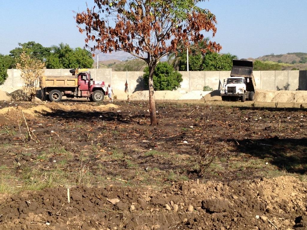 Stockpiling material before rainy season hits