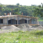 Beginnings of house roof